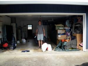 John packs the garage