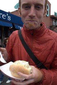 John with crab sandwich